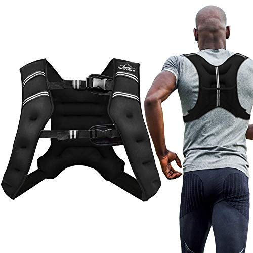 Aduro Sport Weighted Vest Workout Equipment, 4lbs/6lbs/12lbs/20lbs/25lbs Body Weight Vest for Men, Women, Kids (20 Pounds (9.07 KG))