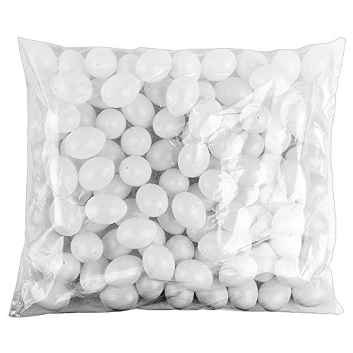 Kunststoff-Eier mit Loch, 6cm hoch, Ø 4cm, weiß, 100 Stück