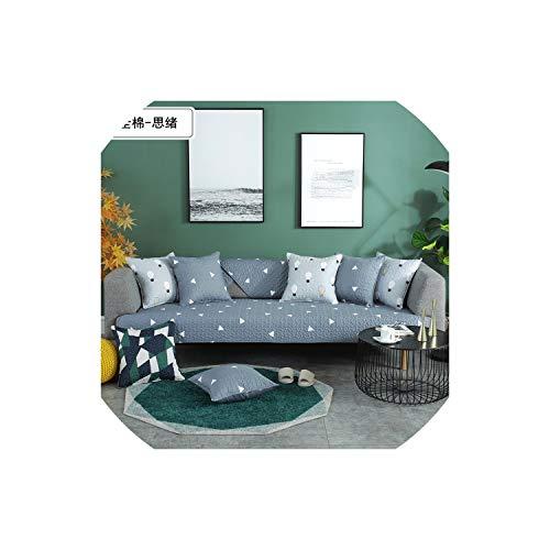 XUELI - Funda de sofá de algodón antideslizante para cuatro estaciones, impresión universal, suave, resistente, para sofá, funda de asiento para sala de estar, 670180 cm-12-9090 cm