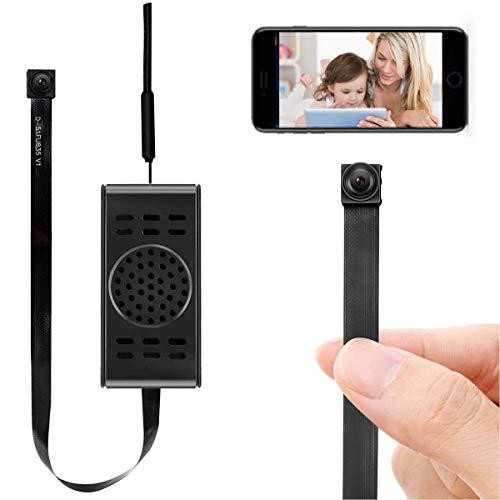 Mini caméra Espion WiFi Petit enregistreur vidéo caché Mini caméra 1080p Mini caméra Espion sans Fil Mini caméra de Surveillance vidéo sans Fil détection de Mouvement et vidéo en Temps réel