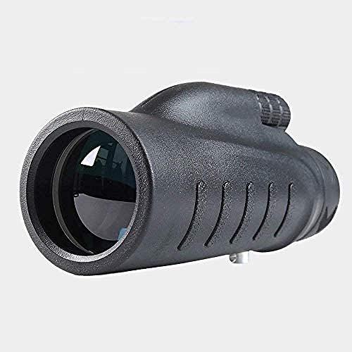 Telescopios Negros Monoculares De Mano, Telescopio 12X50 Telescopio Compacto De Alta Potencia HD De Visión Nocturna para Hacer Turismo, Cazar, Acampar Y Observar Aves