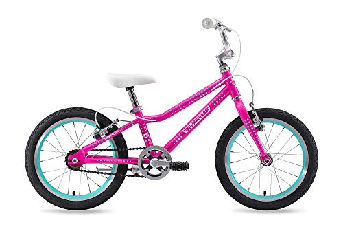 "Guardian Bike Company Ethos Safer Patented SureStop Brake System 16"" Kids Bike, Pink/Aqua"