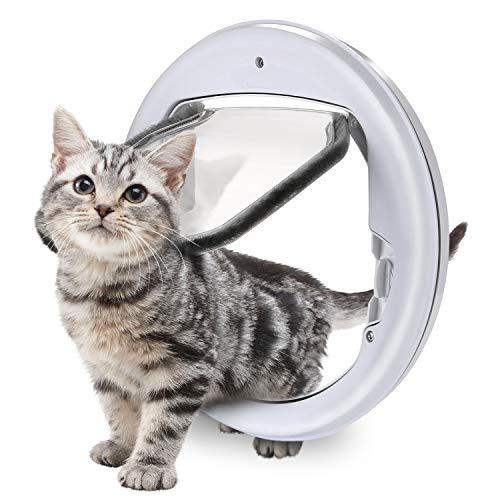 Ownpets Katzenklappe Hundeklappe, Katzentür Haustierklappe für Katzen, Installieren Leicht mit Teleskoprahmen