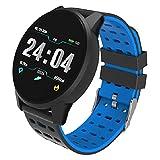 CE elf Fitness Tracker-Uhr, Laufsport-Tracker Smart Watch Wasserdichte Sportuhr Smartwatch mit Pulsmesser Schlaf Armband Schrittzähler Schrittzähler (grün),Blue