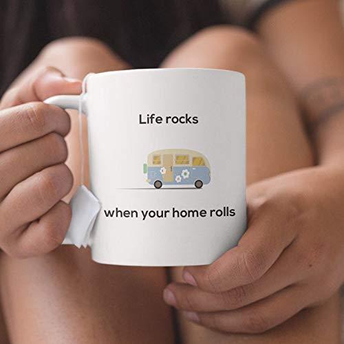 Het leven is beter in Camper omdat het leven rotsen wanneer uw huis rollen! Wandelen en RV Life Mok voor RV Camping en Glamping Lifestyle voor Glampers