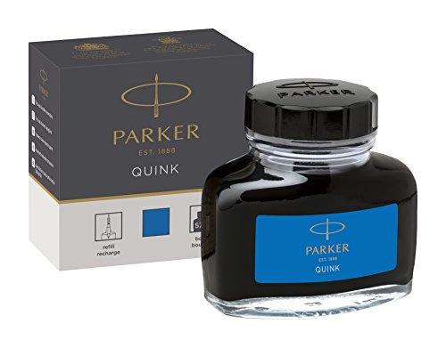 Parker 1950377 Tintenfass mit flüssiger Quink-Tinte (auswaschbar, 57 ml) blau