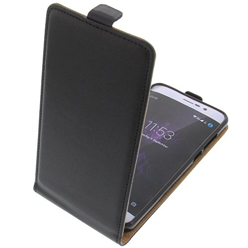 foto-kontor Tasche für Cubot P12 (z100) Smartphone Flipstyle Schutz Hülle schwarz