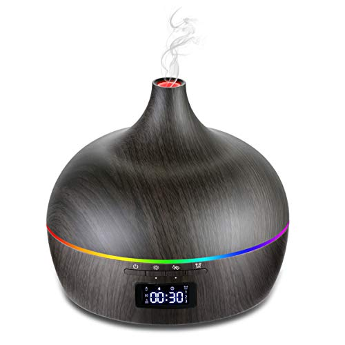 Essential Oil Diffuser Ultrasonic,Aromatherapy Diffuser 400ml APP Control with Bluetooth Speaker,Waterless Auto Shut-Off,LCD Display for Cool Mist Humidifier for Home,Office,Bedroom,Kids Room