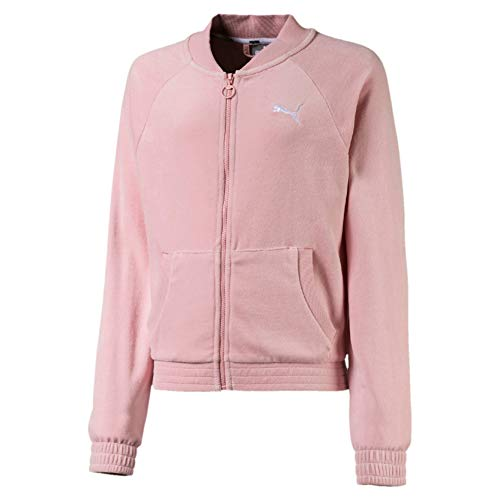 PUMA Mädchen Trainingsjacke Alpha Velvet Jacket G, Bridal Rose, 140, 580218
