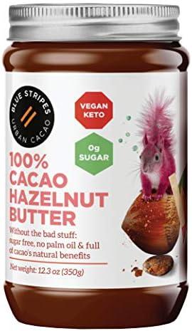 100 Cacao Hazelnut Butter by Blue Stripes Vegan Chocolate Spread Sugar Free Keto Friendly No product image