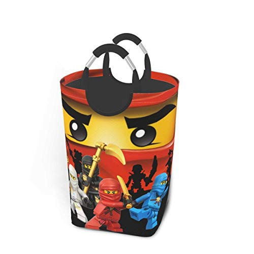 hehai Anime Ninjago Ninja Laundry Baskets Waterproof Dirty Clothes Pack,with Handles Folle Oversized Laundry Hamper