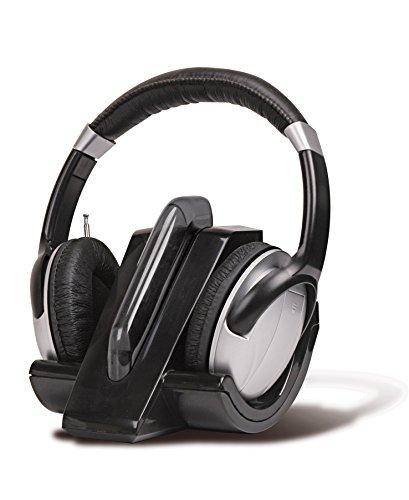 Auricular inalámbrico con Radio FM Negro