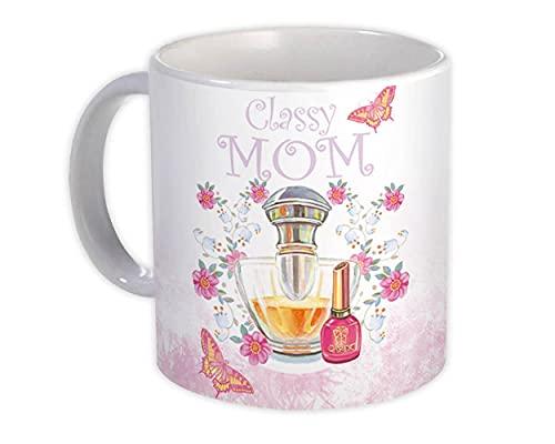 Mamá con clase : Regalo Jarra : Perfume Esmalte de uñas Decoración del día de la madre