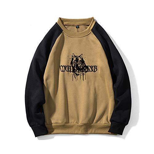 Herbst/Winter Herren GroßEr Rundhalsausschnitt Herren Casual Loose Hedging Wolf Print Sweater