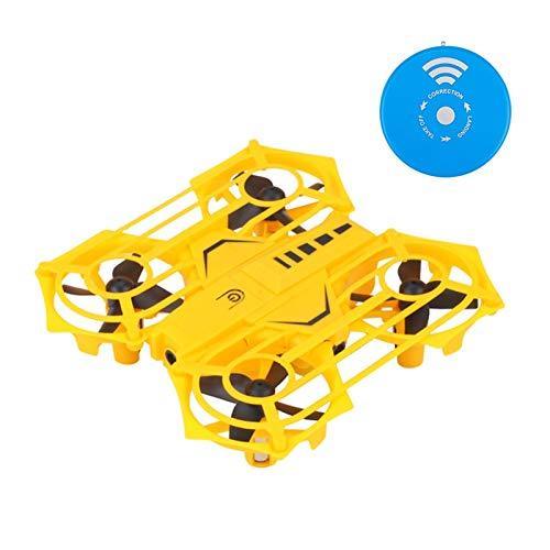 GUOLIANG GPS Drohne RH817A Infrarot-Fernbedienung Induktions-4-Achsen-Quadcopter Smart Toy, Unterstützung Altitude Hold & LED-Licht (Color : Yellow)