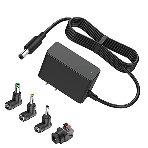 [UL Listed] BENSN Universal 12V 500mA (Max 1000mA) DC Power Supply Adapter Charger for Kids Ride On Car, 5.5mm x 2.1mm DC Cord for CCTV Security Camera, Two-Way Radio, LED Desk Lamp, Portable Fans