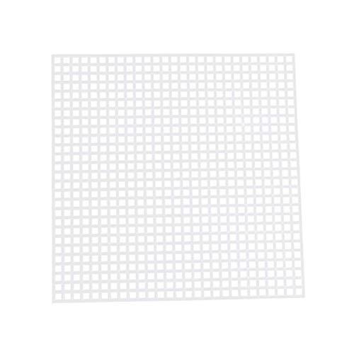 Exceart - 30 rejillas de plástico para punto de cruz, malla tejida Dly, rejilla de plástico, manual, red para manualidades, color blanco, tamaño 4