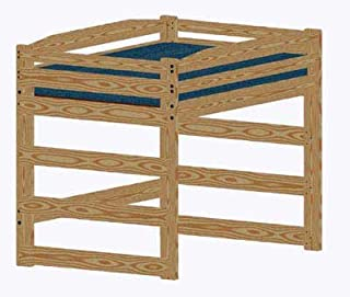 Loft Bed DIY Woodworking Plan to Build Your Own Full-Size Standard Loft