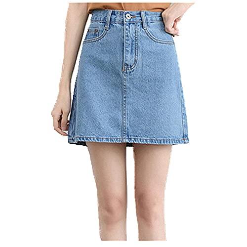 Falda de Las Mujeres Cintura de Verano Falda Jeans