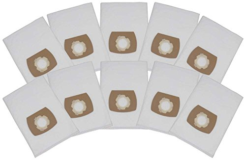 Hossi's Wholsale, Set di 10 sacchetti Premium per aspirapolvere ShopVac Classic 20 / Inox