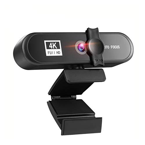 YEYUBH 4K 2K 1080P Full HD Webcam USB3.0 Autofocus Webcam PC Computer, Used For Live Video Call Conference Work webcam (Color : 1K With Stand)