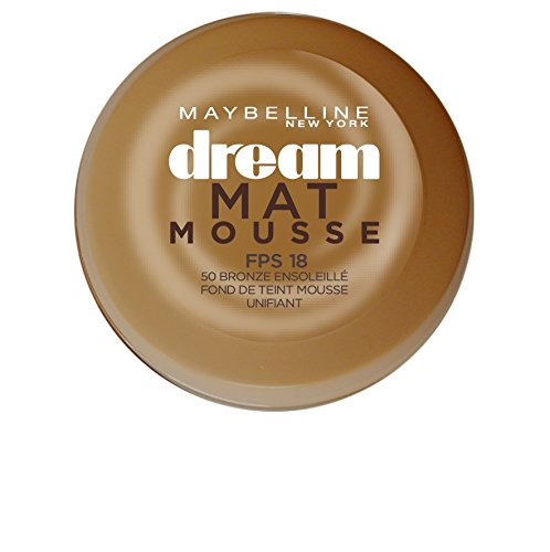 Maybelline New York Dream Mat Mousse Fond de Teint NU 50 Sun Bronze