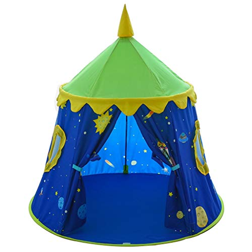 Tents Children's House, Cartoon Yurt Girl's Play Boy's Reading Corner - Gifts for Children - 47 * 47 * 49〃 (Color : B, Size : 120 * 120 * 125CM)
