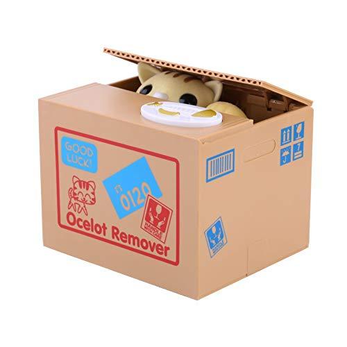 Justup Hucha de gato, dulce gato, hucha, robo, hucha, ahorro, dinero coleccionar, hucha, regalos para niños