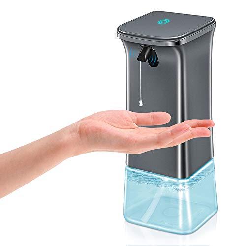 Reesibi Dispenser Sapone Touchless per Disinfettante Gel per Mani Dosasapone per Bagno Ufficio Hotel Scuola Cucina Ospedale, Dispenser Automatico Sapone con Sensore Infrarossi 350ml 1200mAh Batteria