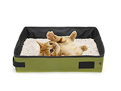 ASOCEA Foldable Cat Litter Box Portable Waterproof Pet Litter Carrier for Traveling Camping