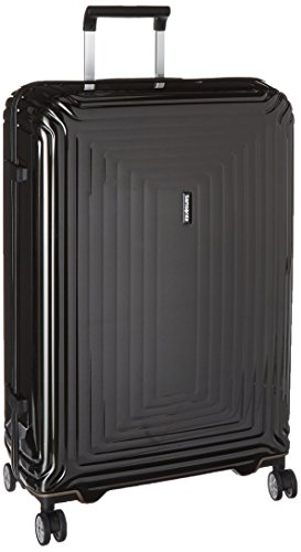 Samsonite Neopulse Hardside Luggage with Spinner Wheels, Metallic Black, Checked-Large 28-Inch