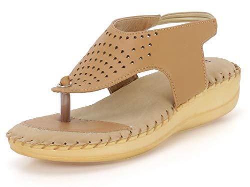 DOCTOR EXTRA SOFT Women's Beige Fashion Sandal - 9 UK