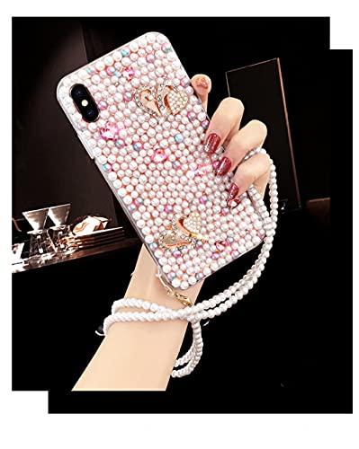 Estuche para teléfono de Lujo con Diamantes de imitación y Perlas para Samsung A3 A5 A7 2017 A9 A8 A6 Plus A50 A70 Crystal Diamond Soft Back Cover, para A310 A3 2016, Style 2