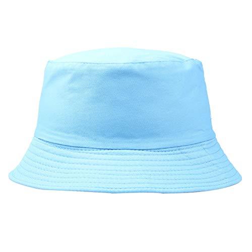 XdiseD9Xsmao Sombrero De Pescador Portátil Sombrero De Sol Plegable De Color Sólido Hombres Mujeres Gorra De Cubo Al Aire Libre Cielo azul
