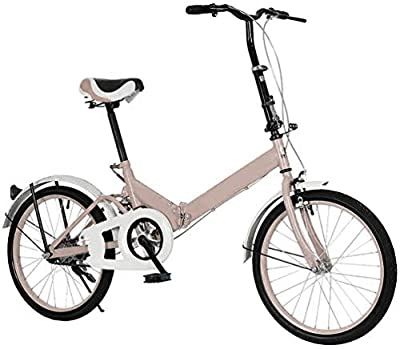 20 Inch Folding Bike for Adult Men and Women Teens, 7 Speed or 1 Speed Lightweight Mini Folding Bike Free Locker and Bag