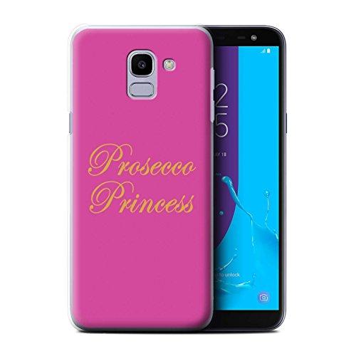 Stuff4®®®®®®®®®®®®®®®® Phone Case/Cover/Skin/SGJP-CC/Prosecco Fashion Collection Samsung Galaxy J6 2018/J600 Prosecco Princess