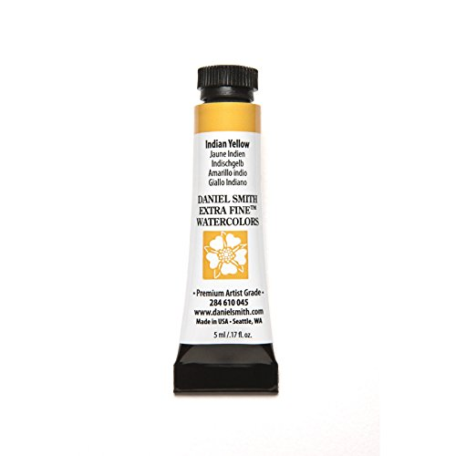 DANIEL SMITH 284610045 Extra Fine Watercolors Tube, 5ml, Indian Yellow