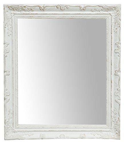 Biscottini Specchiera da Appendere - da Parete - Verticale/Orizzontale Finitura Bianco Anticato (Bianco, L64xPR4xH74 cm)