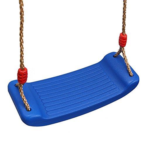 PELLOR Altalene in Plastica, Altalena da Giardino per Bambini Sedile Flessibile per Altalena Cortile Giocattolo per Interna ed Esterna con Corda Regolabile