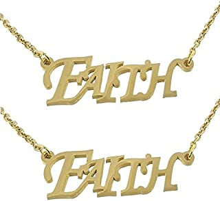 Utkarsh (Set Of 2 Pcs) Golden Color Fancy & Stylish Trending Valentine's Day Special Metal Stainless Steel Faith Name Lett...