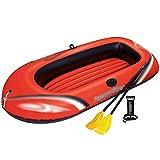 NEHARO Kayaks Kayak escénico Barco Inflable al Aire Libre Barco Inflable del Unisex Bote de Pesca aerodeslizador para la Playa (Color : Red, Tamaño : 228x110x42cm)