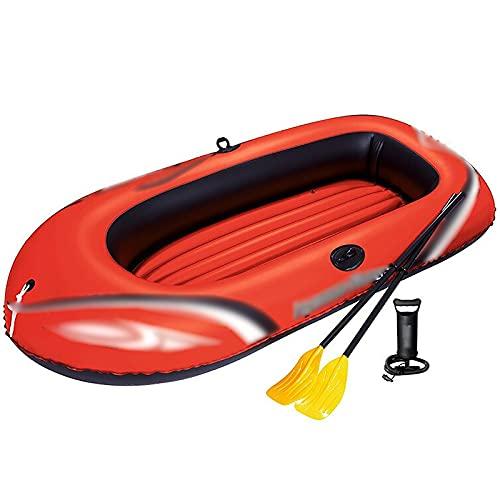 Kayac Kayak escénico Barco Inflable al Aire Libre Barco Inflable del Unisex Bote de Pesca aerodeslizador Bote Inflable (Color : Red, Tamaño : 228x110x42cm)