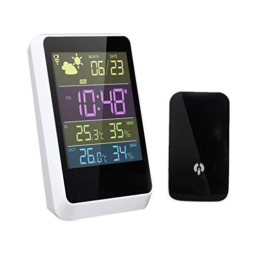 Atten Startseite Funkwetterstation, im Freien Digital Temperatur-Feuchtigkeits-Monitor mit hohen Präzision, geringer Kluger Wecker