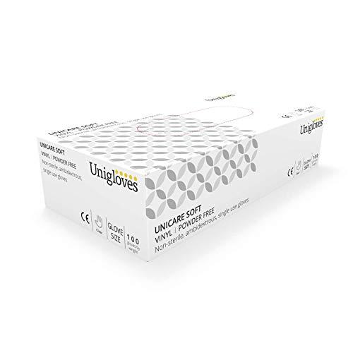 Unigloves UCV1205 Vinyl-Handschuhe, puderfrei, XL, 100 Stück