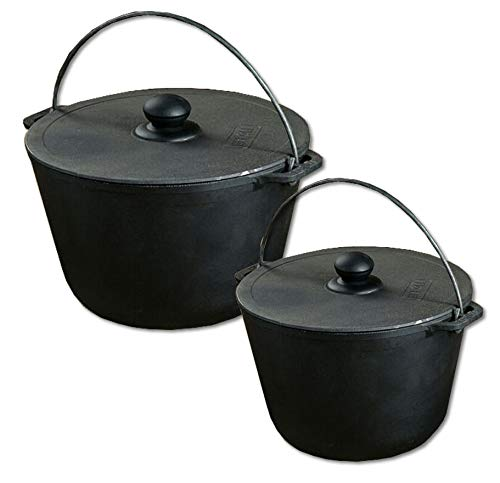 already burnt Casting Pot Kazan 6.7 Liter BBQ-Toro Cast Iron Pot