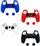 PS5 Controller Skins Case 4 Pack - Playstation 5 DualSense Silicone Skin Cover Accessories for Anti-Slip Grip Control
