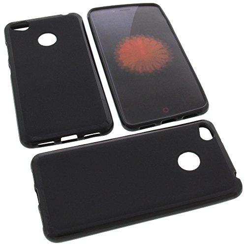 foto-kontor Tasche für ZTE Nubia Z11 Mini S Gummi TPU Schutz Handytasche schwarz