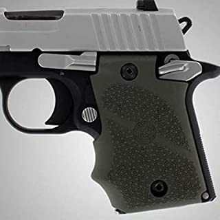 Hogue 98081 Sig P938 Rubber Grip, Ambidextrous, with Finger Grooves