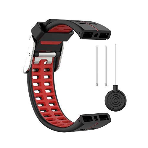 BoLuo Correa para Polar V800,Bandas Correa Repuesto,Correas de Reloj,Silicona Reloj Recambio Ajustable Brazalete Correa Repuesto Strap Wristband para Polar V800 GPS Sports watch Accessories (rojo)