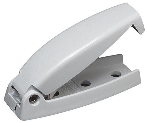 RV Designer E211, Plastic Rounded Baggage Door Catch, White, 2 Per Pack, Compartment Hardware